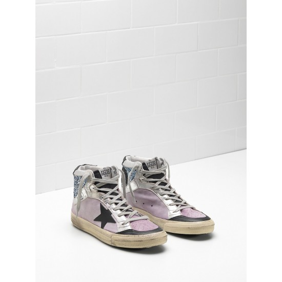 Men's/Women's Golden Goose 2.12 Sneakers Calf Suede Upper Star In Leather