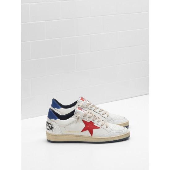 Men's/Women's Golden Goose ball star sneakers in calf leather in leather slight