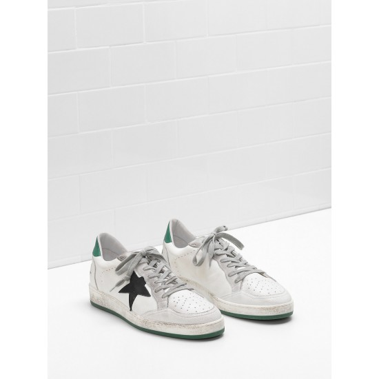 Men's/Women's Golden Goose ball star sneakers in calf leather nabuk star suede
