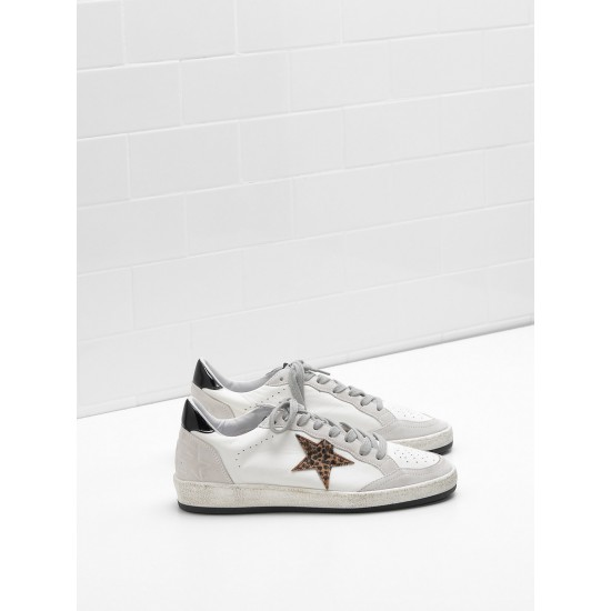 Men's/Women's Golden Goose ball star sneakers in calf leather star heel glossy