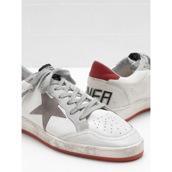 Men's/Women's Golden Goose ball star sneakers in calf leather suede star