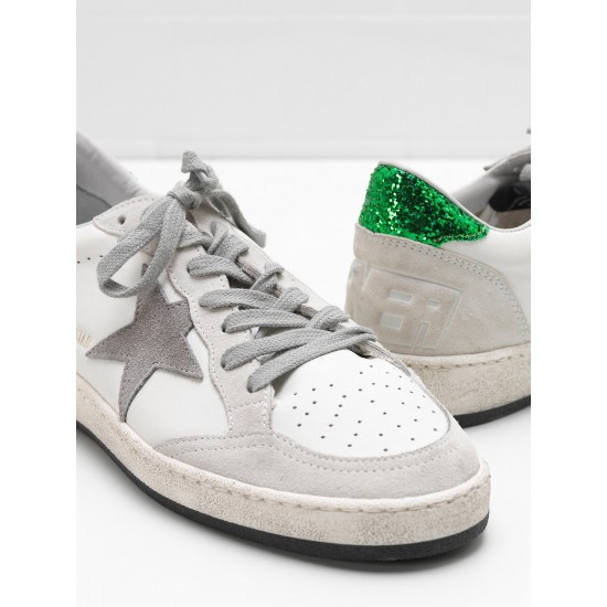 Men's/Women's Golden Goose ball star sneakers in calf leather suede star glittery
