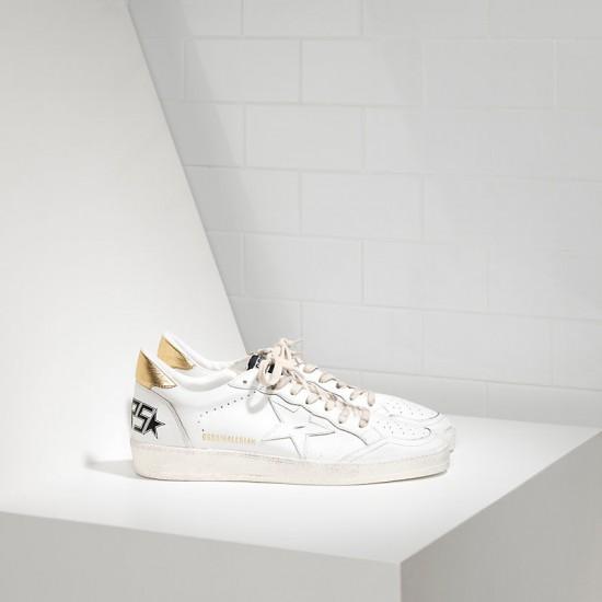 Men's/Women's Golden Goose sneakers ball star leather in white gold