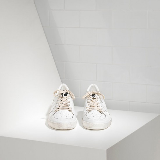 Men's/Women's Golden Goose sneakers ball star leather in white gold