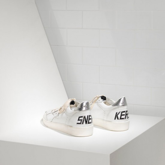 Men's/Women's Golden Goose sneakers ball star leather in white silver
