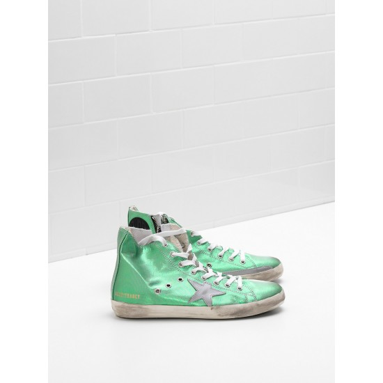 Men's/Women's Golden Goose francy sneakers canvas star in laminated leather