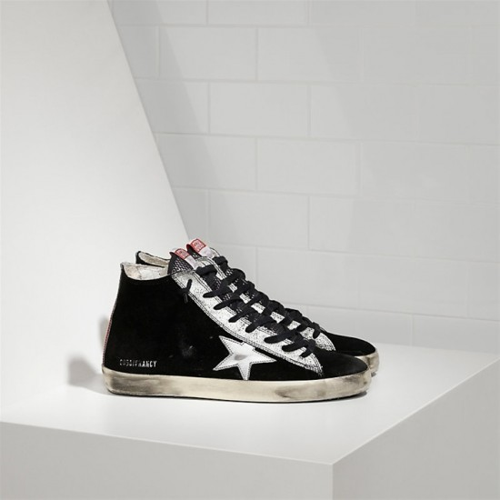 Men's/Women's Golden Goose francy sneakers leather star black suede strawber