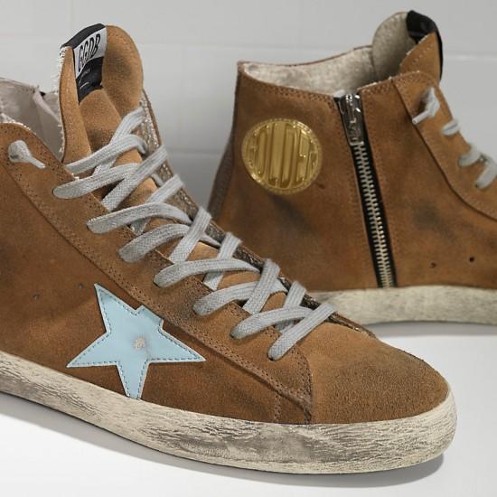 Men's/Women's Golden Goose sneakers francy in camoscio in pelle olive suede