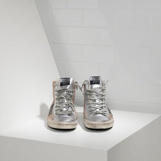 Men's/Women's Golden Goose sneakers francy in camoscio in pelle skin silver