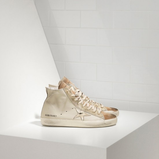 Men's/Women's Golden Goose sneakers francy in chestnut golden star logo