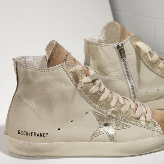 Men's/Women's Golden Goose sneakers francy in chestnut golden star logo