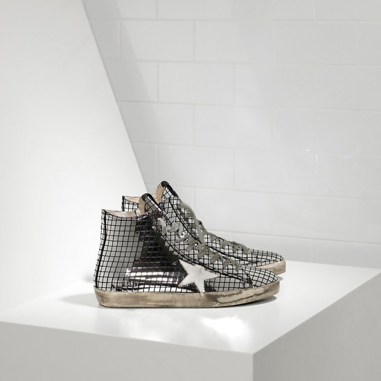 Men's/Women's Golden Goose sneakers francy in glitter Silver