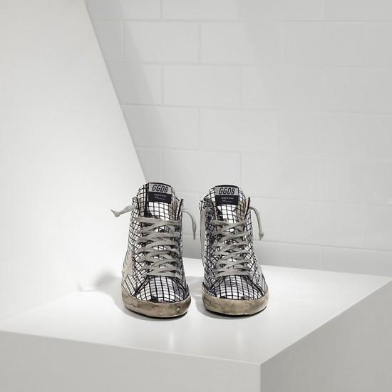 Men's/Women's Golden Goose sneakers francy in glitter Silver