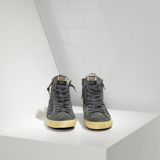 Men's/Women's Golden Goose sneakers francy in nabuk dark grey