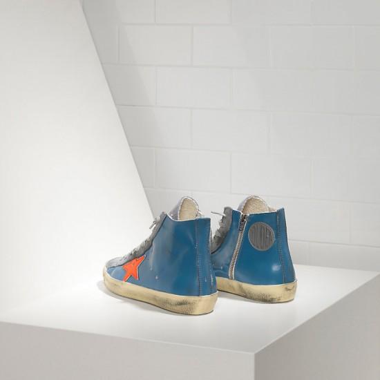 Men's/Women's Golden Goose sneakers francy sky red fluo star