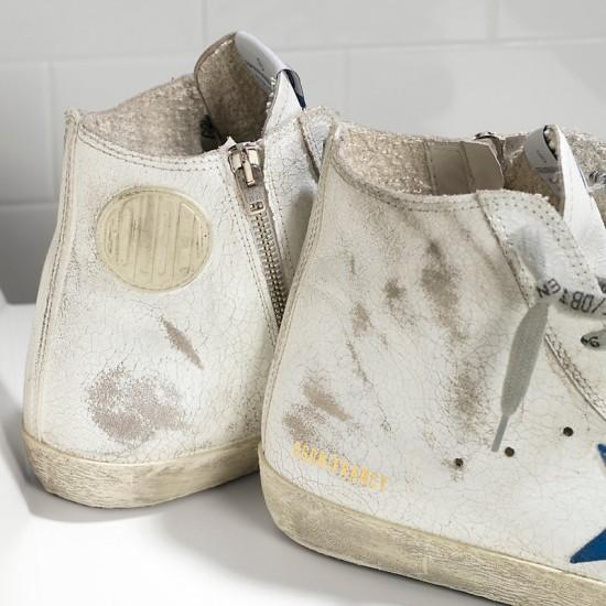 Men's/Women's Golden Goose sneakers francy white marble bluette