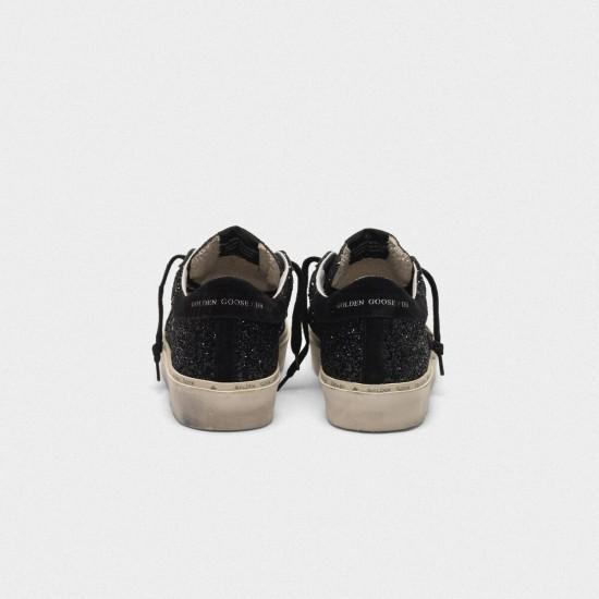 Men's/Women's Golden Goose hi star sneakers black glitter shiny Black star Logo