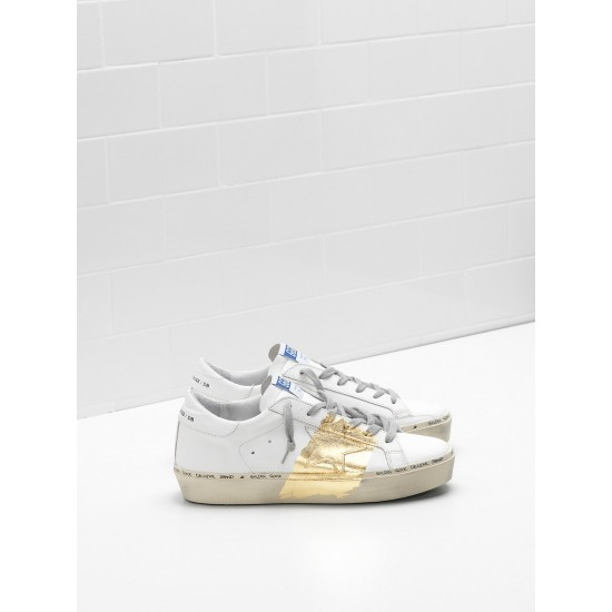 Men's/Women's Golden Goose hi star sneakers 24 carat gold leaf branding white
