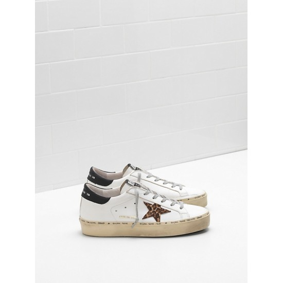 Men's/Women's Golden Goose hi star sneakers ponyskin effect leather star