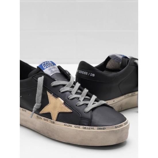 Men's/Women's Golden Goose hi star sneakers slight vintage treatment star in black