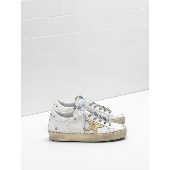 Men's/Women's Golden Goose hi star sneakers slight vintage treatment star in white