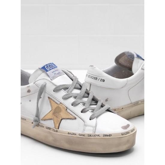 Men's/Women's Golden Goose hi star sneakers slight vintage treatment star in white