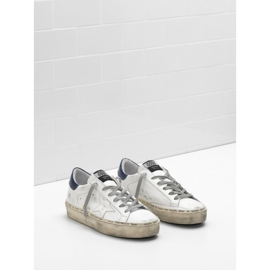 Men's/Women's Golden Goose hi star sneakers slight vintage treatment heel glossy
