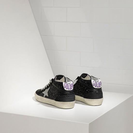 Men's/Women's Golden Goose sneakers mid star all over glitter in black glitter