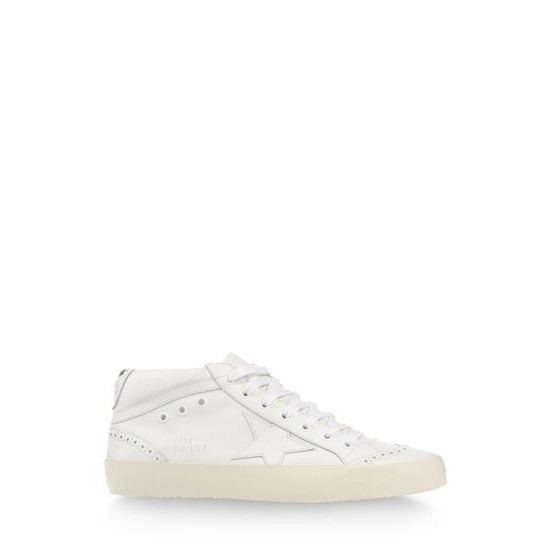 Men's/Women's Golden Goose sneakers mid star in all white
