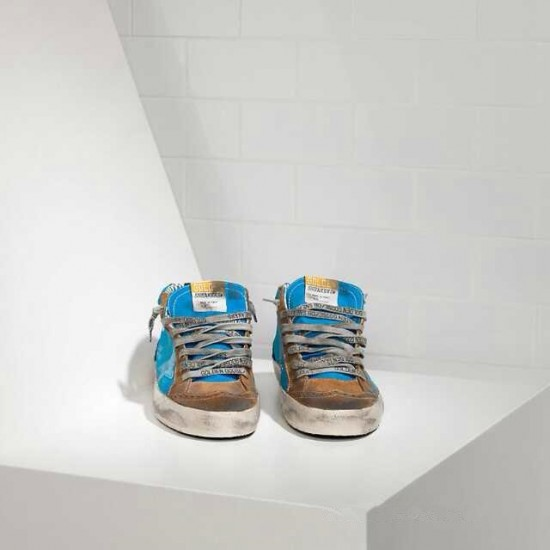 Men's/Women's Golden Goose sneakers mid star in blue brown