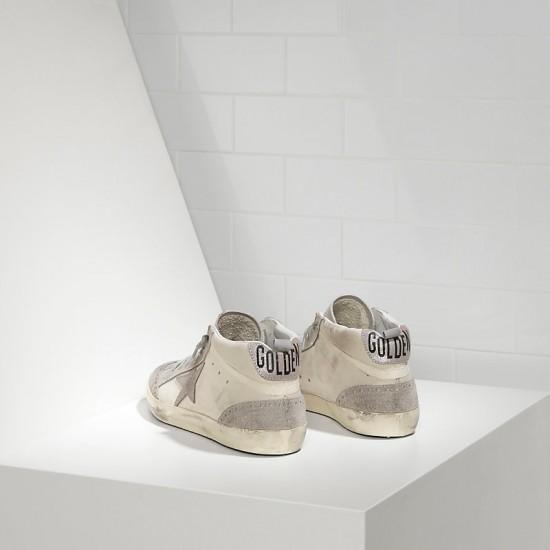 Men's/Women's Golden Goose sneakers mid star in camoscio white silver star