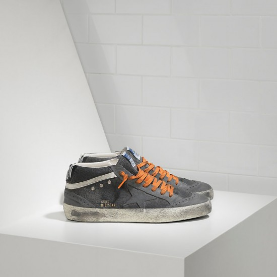 Men's/Women's Golden Goose sneakers mid star in canvas denim destroyed