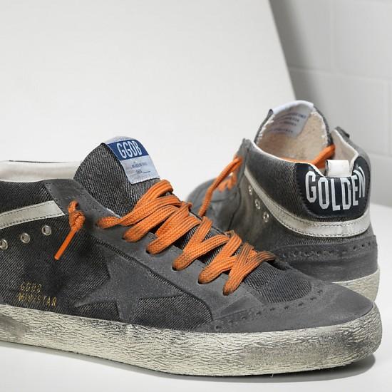 Men's/Women's Golden Goose sneakers mid star in canvas denim destroyed