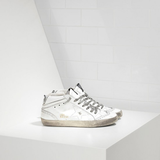 Men's/Women's Golden Goose sneakers mid star lucida traforata white polish