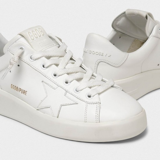Men's/Women's Golden Goose purestar sneakers in full white