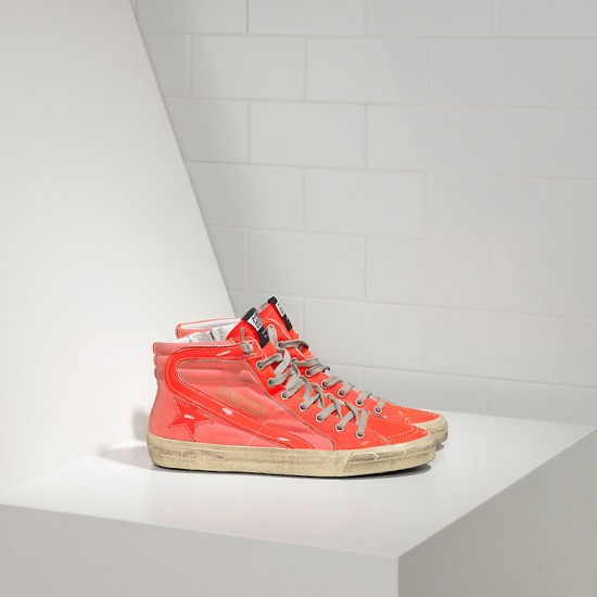 Men's/Women's Golden Goose slide sneakers archive in orange