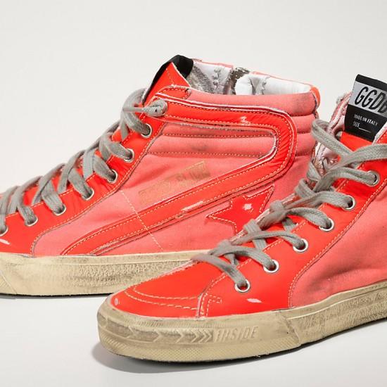 Men's/Women's Golden Goose slide sneakers archive in orange