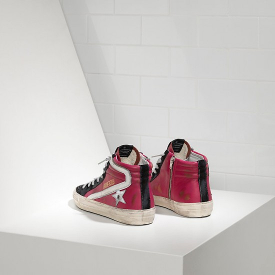 Men's/Women's Golden Goose sneakers slide in cyclamine leather
