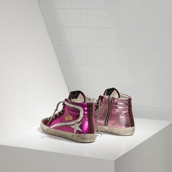 Men's/Women's Golden Goose sneakers slide in pelle pink shades
