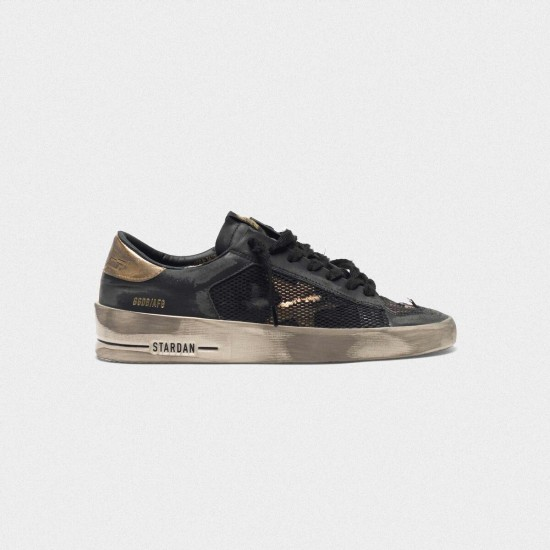Men's/Women's Golden Goose distressed black and gold stardan ltd sneakers