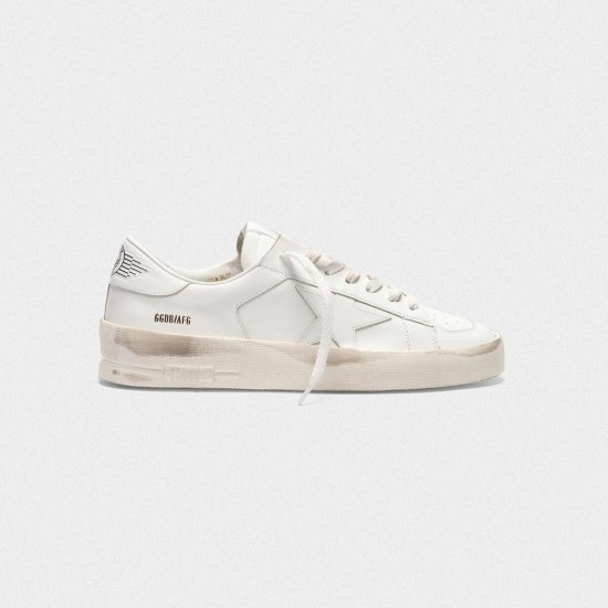 Men's/Women's Golden Goose stardan sneakers in total white leather