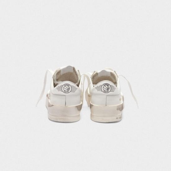 Men's/Women's Golden Goose stardan sneakers in total white leather