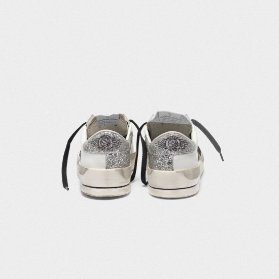 Women's Golden Goose stardan sneakers with leopard print star and glittery
