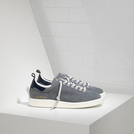 Men's Golden Goose sneakers starter in dark grey