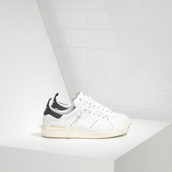 Men's/Women's Golden Goose sneakers starter in traforata white spot
