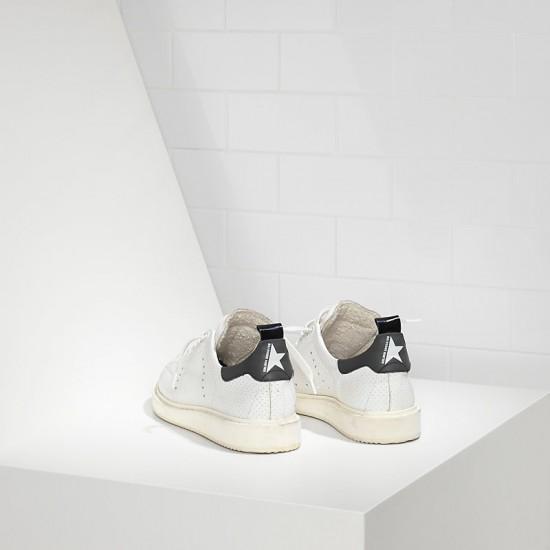 Men's/Women's Golden Goose sneakers starter in traforata white spot