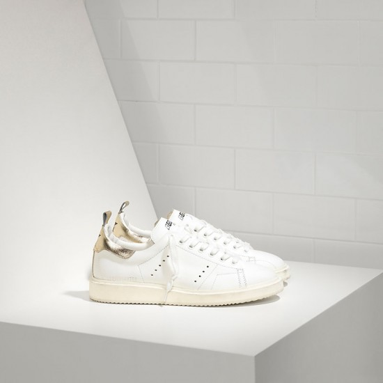 Men's/Women's Golden Goose sneakers starter in white gold