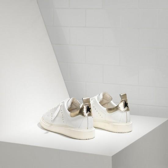 Men's/Women's Golden Goose sneakers starter in white gold