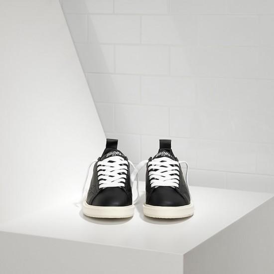 Men's/Women's Golden Goose starter sneakers in calf leather black white sole