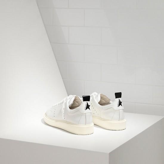 Men's/Women's Golden Goose starter sneakers in calf leather white white sole